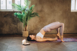 bridge yoga for glowing skin and healthy hair