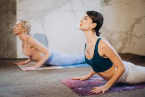 cobra pose to enhance skin glow