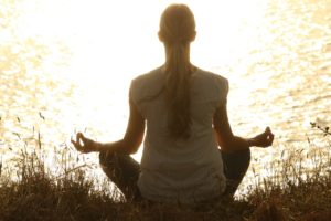 do mediation to reduce stress and hair fall