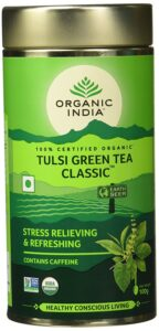 drinking tulsi green tea